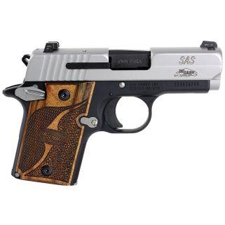 "Sig Sauer P938 9mm 3"" Barrel W/ SigLite Night Sights 7+1 Custom Wood Grips 9389SASAMBI"