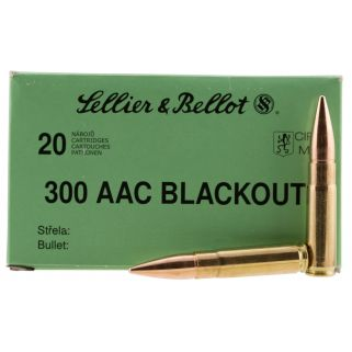 Sellier & Bellot 300 Blackout Subsonic FMJ 200gr - 20 Round Box SB300BLKSUBA