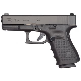 "Glock G19 MOS Gen 4 Compact 9mm Luger 4.01"" 10+1 PG1950201MOS"