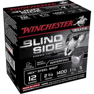 "Winchester Blindside Waterfowl 12 Gauge 5 Shot 2.75"" 25 Round Box SBS125"