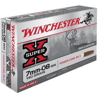 Winchester Super-X Power Core 7mm-08 Remington 140 Grain 20 Round Box X708LF