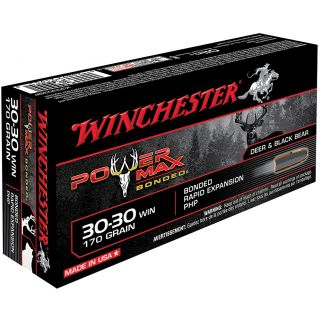 Winchester Power Max Bonded 30-30WIN 170 Grain 20 Round Box X30303BP