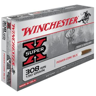 Winchester Super-X Power Core 308WIN/7.62NATO 150 Grain 20 Round Box X308LF
