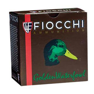 """Fiocchi Golden Waterfowl 12 Gauge 4 Shot 3"""" 25 Round Box 123SGW4"""