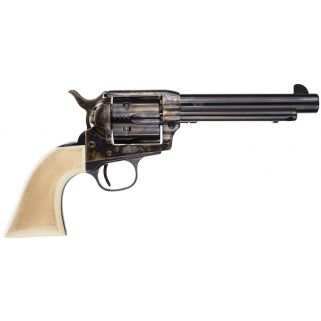 "Taylor's & Co Taylor Gambler 45 Colt 5.5"" Barrel W/ Blade Front Sights 6Rd Walnut Grip/Blued 555130"