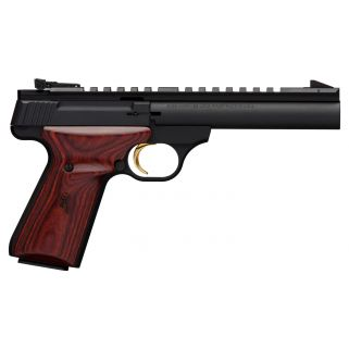 "Browning Buck Mark Field Target 22LR 5.5"" Barrel W/ Pro Target Sights 10+1 Laminate Cocobolo Grips/Matte Blued 051528490"