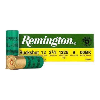 """Remington Express Buckshot 12 Gauge 00 Buck 2.75"""" 25 Round Box NS1235HVT"""