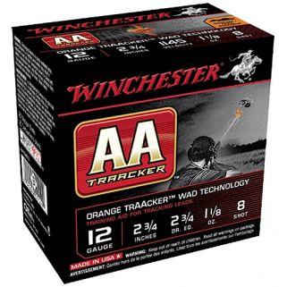 "Winchester AA Light Target Load 12 Gauge 8 Shot 2.75"" Orange 25 Round Box AA128TO"