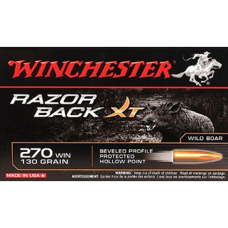 Winchester Razor Back XT 270WIN 130 Grain HP 20 Round Box S270WB