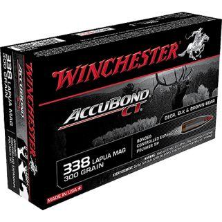 Winchester Accubond CT 338 Lapua Mag 300 Grain 20 Round Box S338LCT