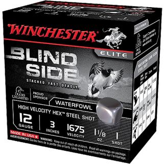 "Winchester Blindside High Velocity Waterfowl 12 Gauge 2 Shot 3"" 25 Round Box SBS123HV2"