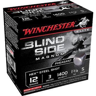 """Winchester Blindside Magnum 12 Gauge 5 Shot 2.75"""" 25 Round Box SBSPH125"""