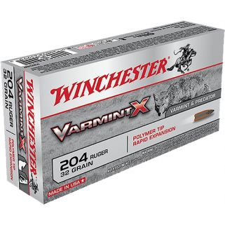 Winchester Varmint-X 204 Ruger 32 Grain 20 Round Box X204P