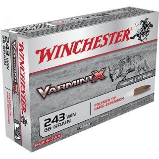 Winchester Varmint-X 243WIN 58 Grain 20 Round Box X243P