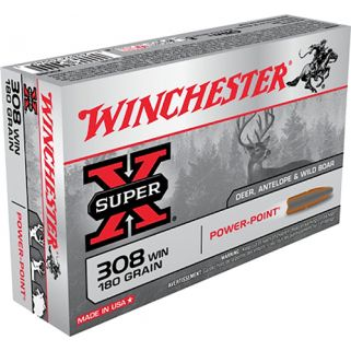 Winchester Power Max Bonded 308WIN 180 Grain 20 Round Box X3086BP