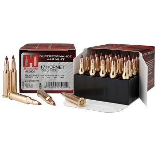 Hornady Superformance Varmint 17 Hornet 15.5 Grain NTX 25 Round Box 83004