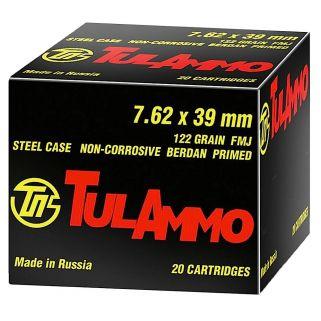 TULA UL076210 7.62X39 122FMJ 100/10
