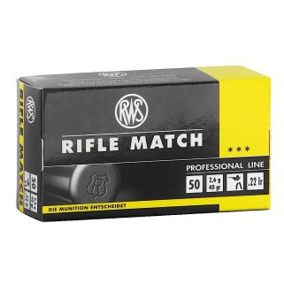 RWS 2134225 22LR RIFLE MATCH 40GR 50