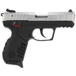 """Ruger SR22 Standard 22LR 3.5"""" Barrel 10+1 Black Polymer Grip/Silver Aluminum Alloy 3607"""
