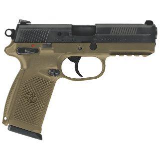 "FN FNX-45 45ACP 4.5"" Barrel W/ 3 Dot Sights 10+1 Flat Dark Earth-Black 66965"