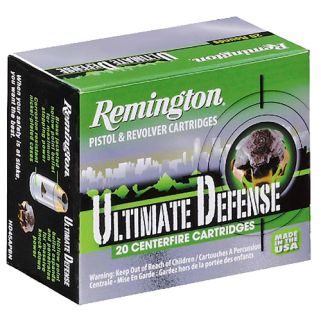 Remington Ultimate Defense 38 Special 125 Grain Brass 20 Round Box HD38SBN