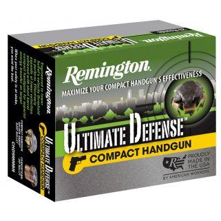Remington Ultimate Defense 380ACP 102 Grain Brass 20 Round Box CHD380BN