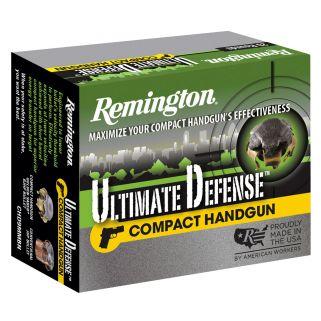 Remington Ultimate Defense 38 Special 125 Grain Brass 20 Round Box CHD38SBN