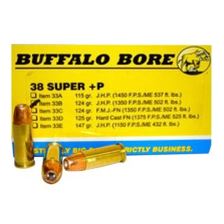 BBA 33B/20 38SUP +P 124GR JHP 20/12