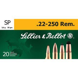 S&B SB22250B 22-250 55 SP 20/25