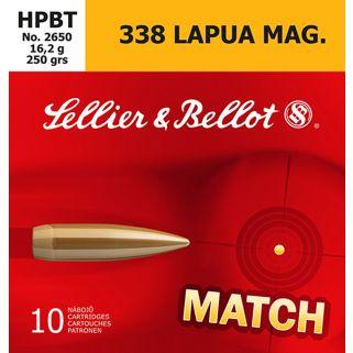 S&B SB338LMA 338 LAP 250 HPBT 10/10