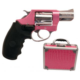 "Charter Arms Undercover Lite Chic Lady 38 Special 2"" Barrel W/ Fixed Sights 5Rd Black Grip/Pink-Stainless 53832"