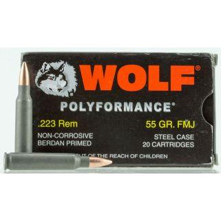 WOLF 22355 (BOX) 223 FMJ CP 55 20