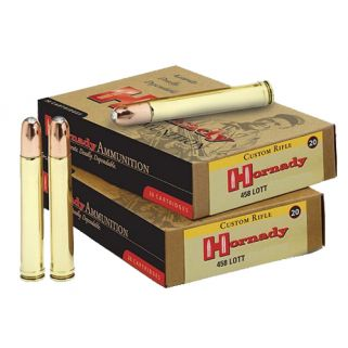 Hornady Dangerous Game 458 Lott 500 Grain DGS 20 Round Box 8262