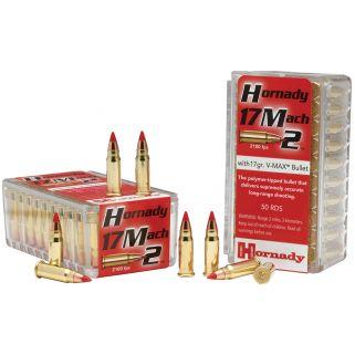 Hornady Varmint Express Rimfire 17 Mach 2 17 Grain V-Max 50 Round Box 83177