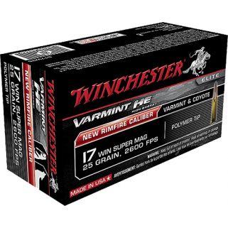 Winchester Varmint HV 17WSM 25 Grain Polymer Tip 50 Round Box S17W25