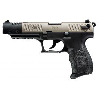 "Walther P22 22LR 5"" Barrel Nickel Target 10+1 *CA Compliant* 5120337"