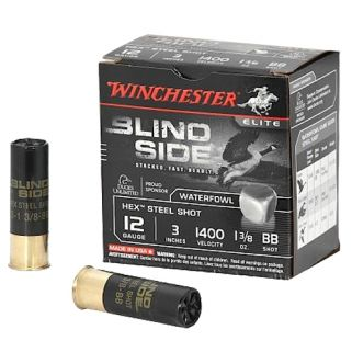 "Winchester Blindside 12 Gauge BB Steel Shot 3"" 200 Round Ammo Can SBS123BBVP"