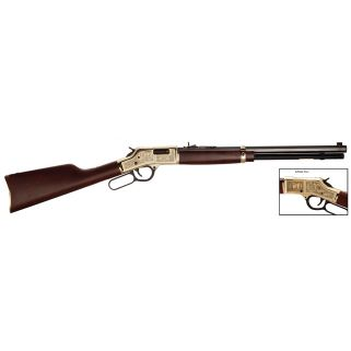 "Henry Big Boy American Oilman Tribute 44 Magnum/44 Special 20"" Barrel W/ Semi Buckhorn Rear-Brass Bead Front Sights 10+1 Walnut Stock/Brass H006OM"