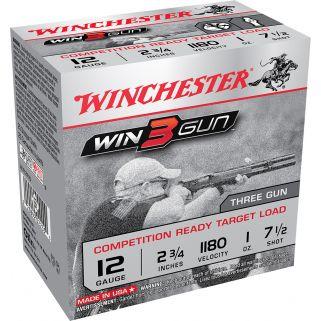 "Winchester Win3Gun 12 Gauge 7.5 Shot 2.75"" 25 Round Box XLT127TG"