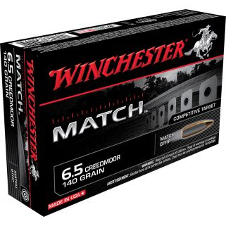 Winchester Match 6.5 Creedmoor 140 Grain 20 Round Box S65CM