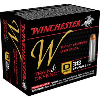 Winchester W-Train & Defend 38 Special 130 Grain 20 Round Box W38SPLD