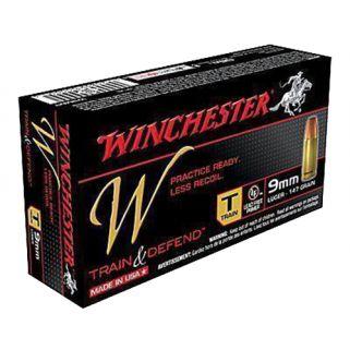 Winchester W-Train & Defend 9mm Luger 127 Grain 50 Round Box W9MMT