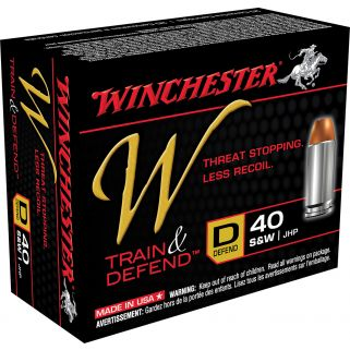 Winchester W-Train & Defend 40S&W 180 Grain 20 Round Box W40SWD