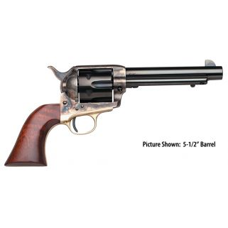 """Taylor's & Co 1873 The Ranch Hand 45 Colt 7.5"""" Barrel W/ Blade Front Sight 6Rd Walnut Grip/Blued 455"""