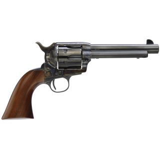 """Taylor's & Co 1873 Gunfighter Deluxe 357 Magnum 5.5"""" Barrel W/ Fixed Sight 6rd Wood Grip/Blued 5000DE"""