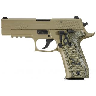 "Sig Sauer P226 Scorpion 9mm 4.4"" Barrel W/ SigLite Night Sights 10+1/15+1 Flat Dark Earth *CA Compliant* 226R9SCPNCA"