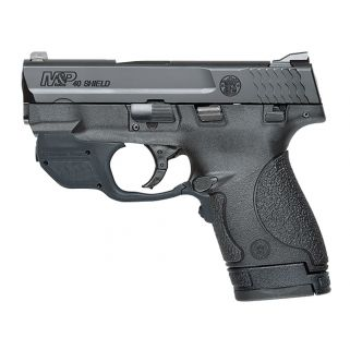 "Smith & Wesson M&P Shield 40S&W 3.1"" Barrel W/ Crimson Trace Green Laser 6+1/7+1 Black/Stainless Steel 10147"