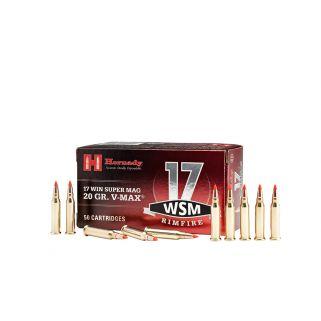 Hornady Varmint Express Rimfire 17WSM 20 Grain V-Max 50 Round Box 83180