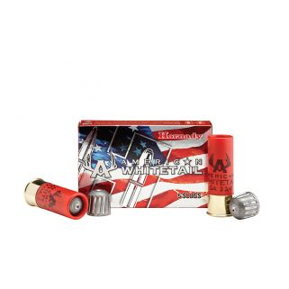 "Hornady American Whitetail 12 Gauge Rifled Slug 2.75"" 5 Round Box 86234"