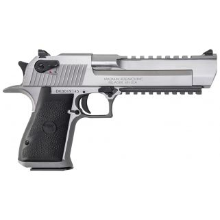 """Magnum Research Desert Eagle 50AE 6"""" Barrel W/ Combat-Fixed Sights 7+1 Black/Stainless DE50SR"""
